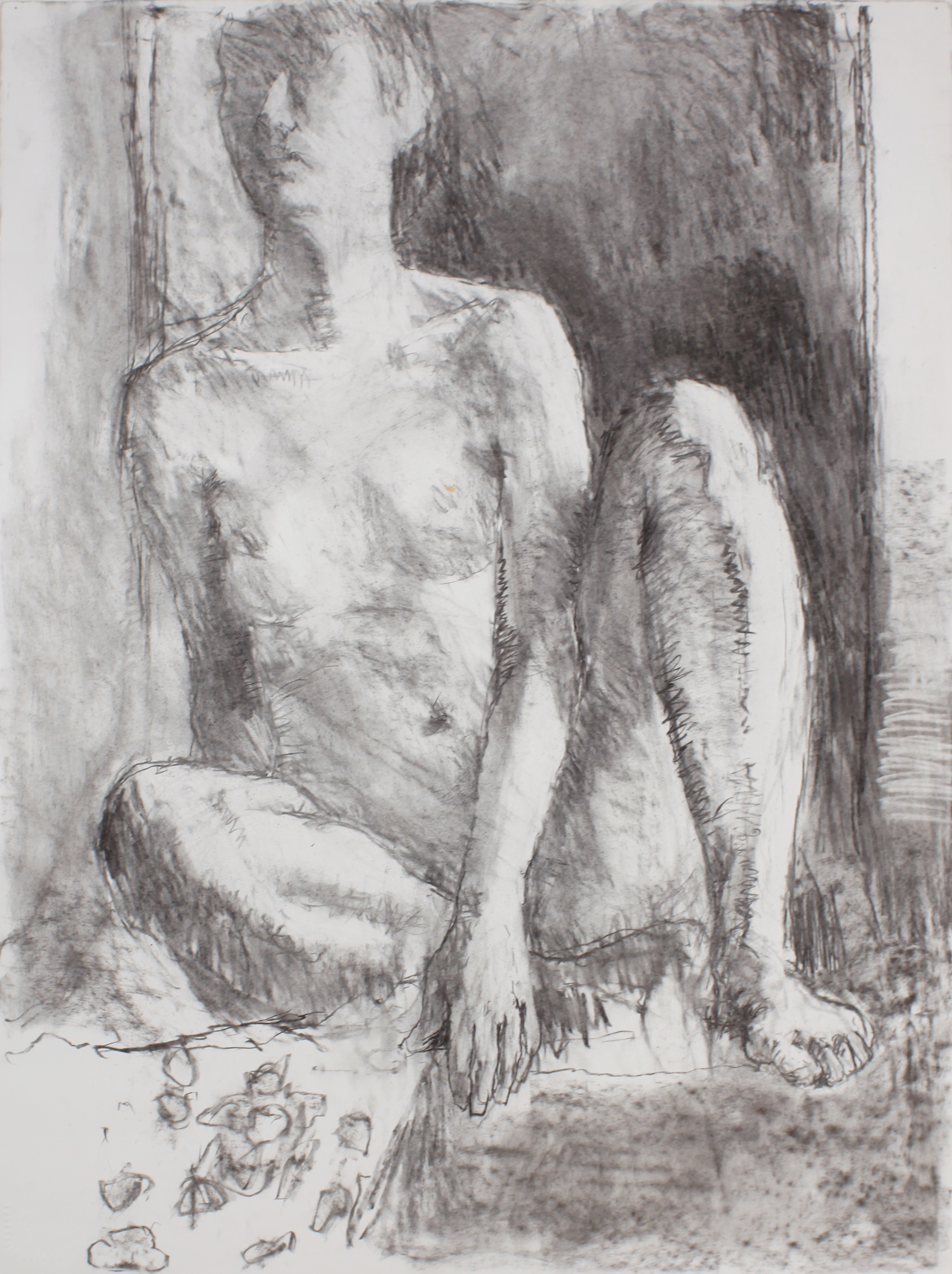 1990s_Seated_Male_Nude_charcoal_on_paper_30x22in_WPF470.jpg