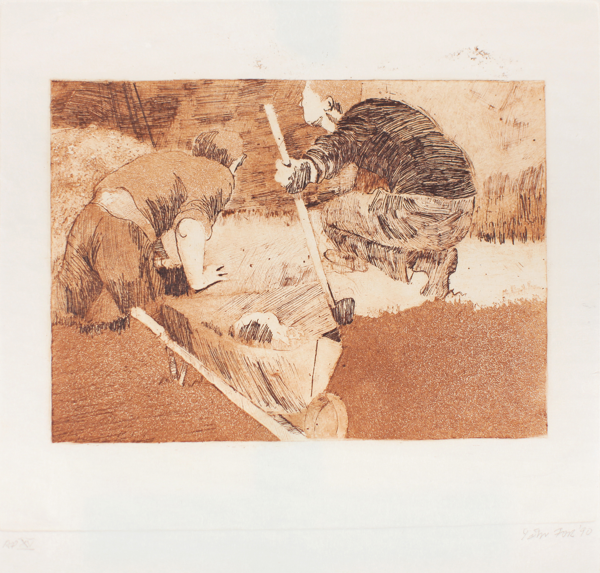 1990_Diggers_etching_drypoint_and_aquatint_on_paper_ap_paper_14x14in_image_8x11in_WPF431.jpg