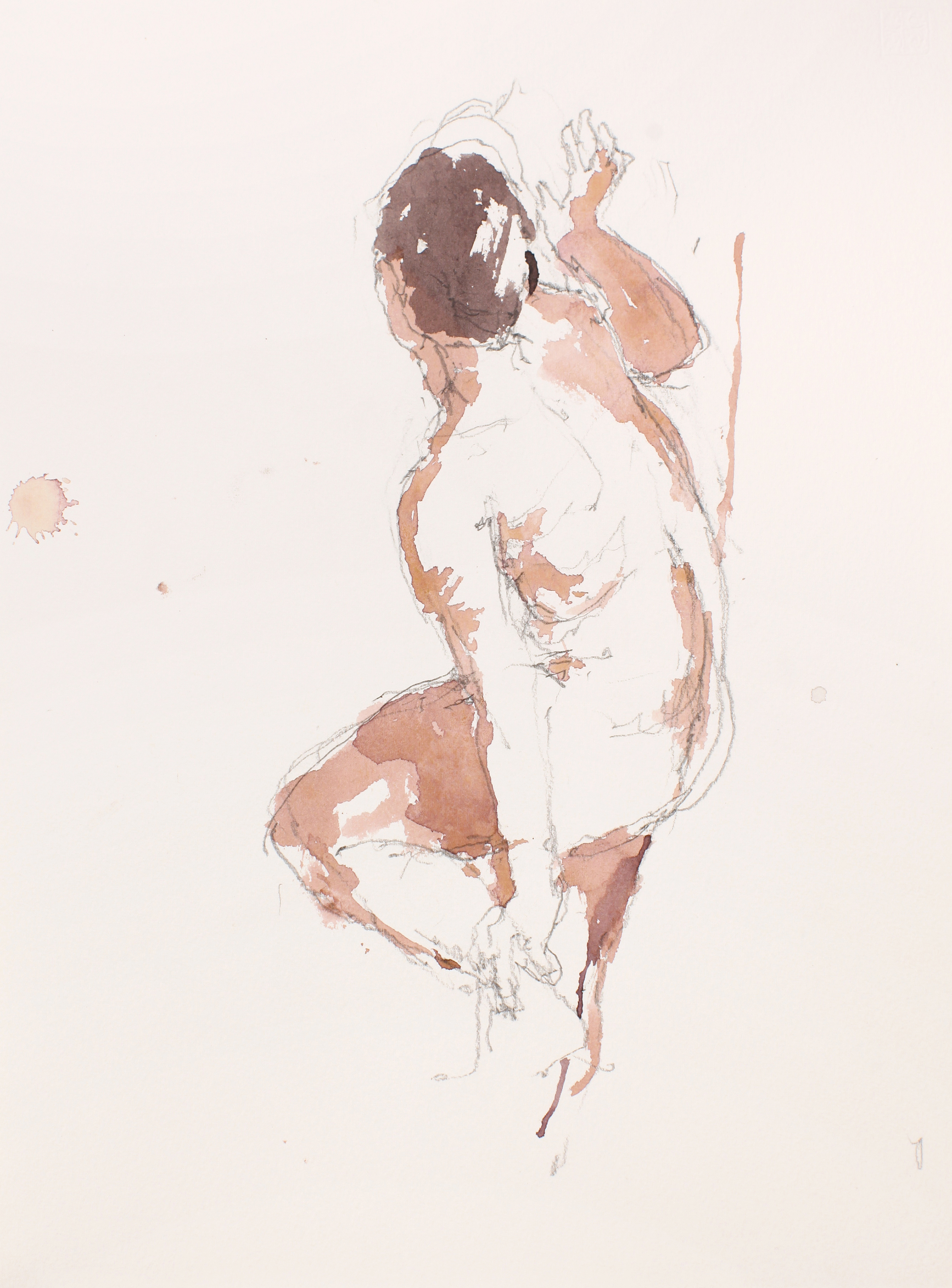 2007_Stading_Nude_Holding_Left_Leg_Ankle_watercolour_and_pencil_on_paper_15x11in_WPF515.jpg