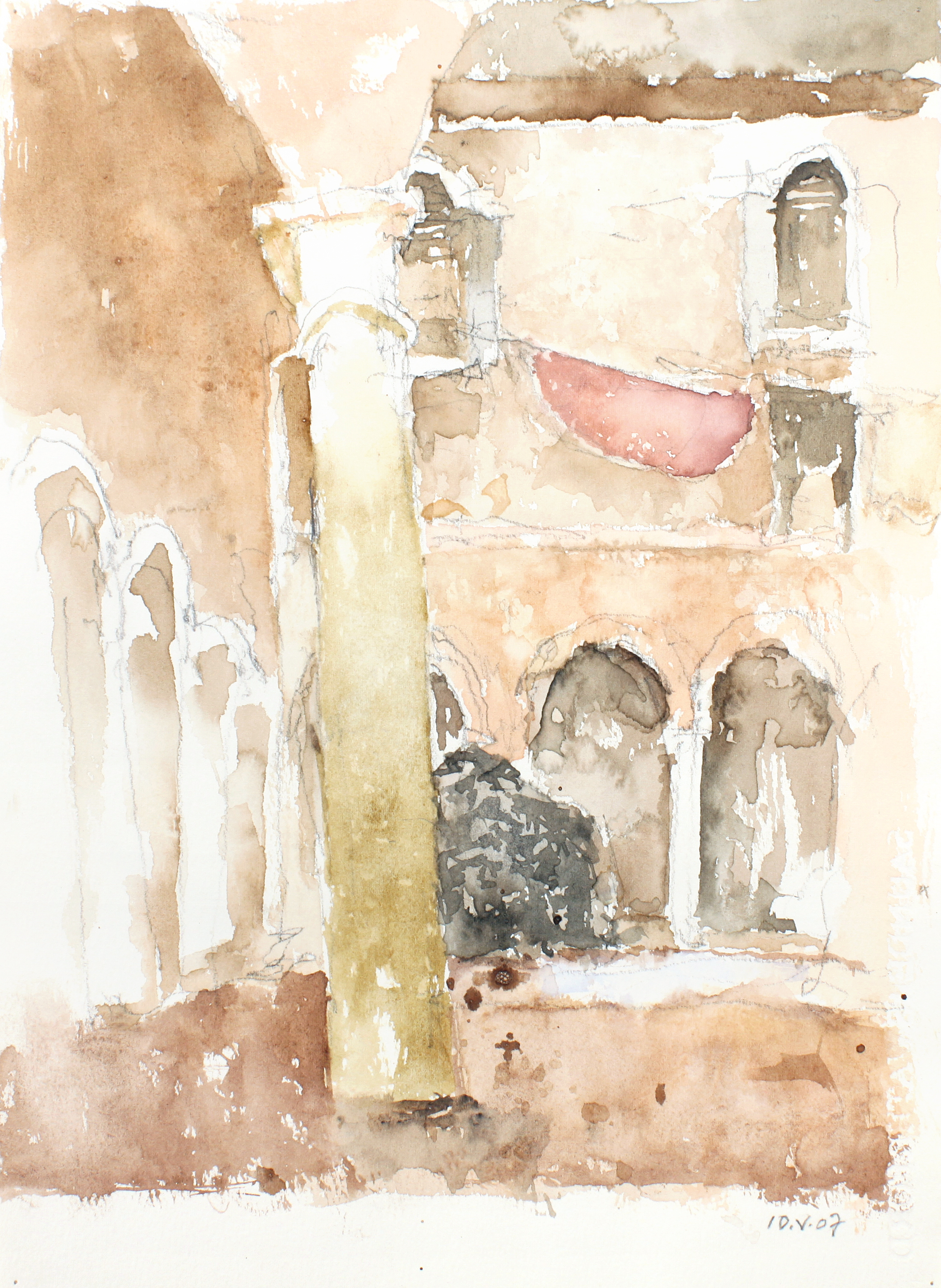 2007_San_Giobe_Courtyard_Venice_watercolour_and_pencil_on_paper_15x11in_WPF255.jpg
