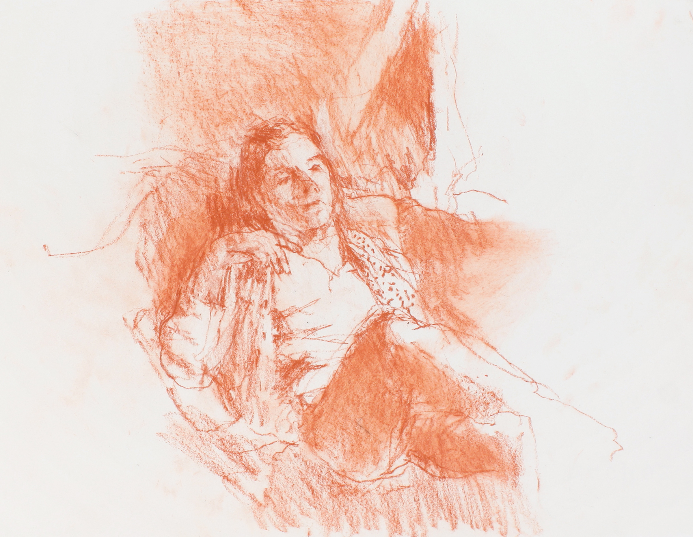 Study of Anthony (Seated_Man) in Red