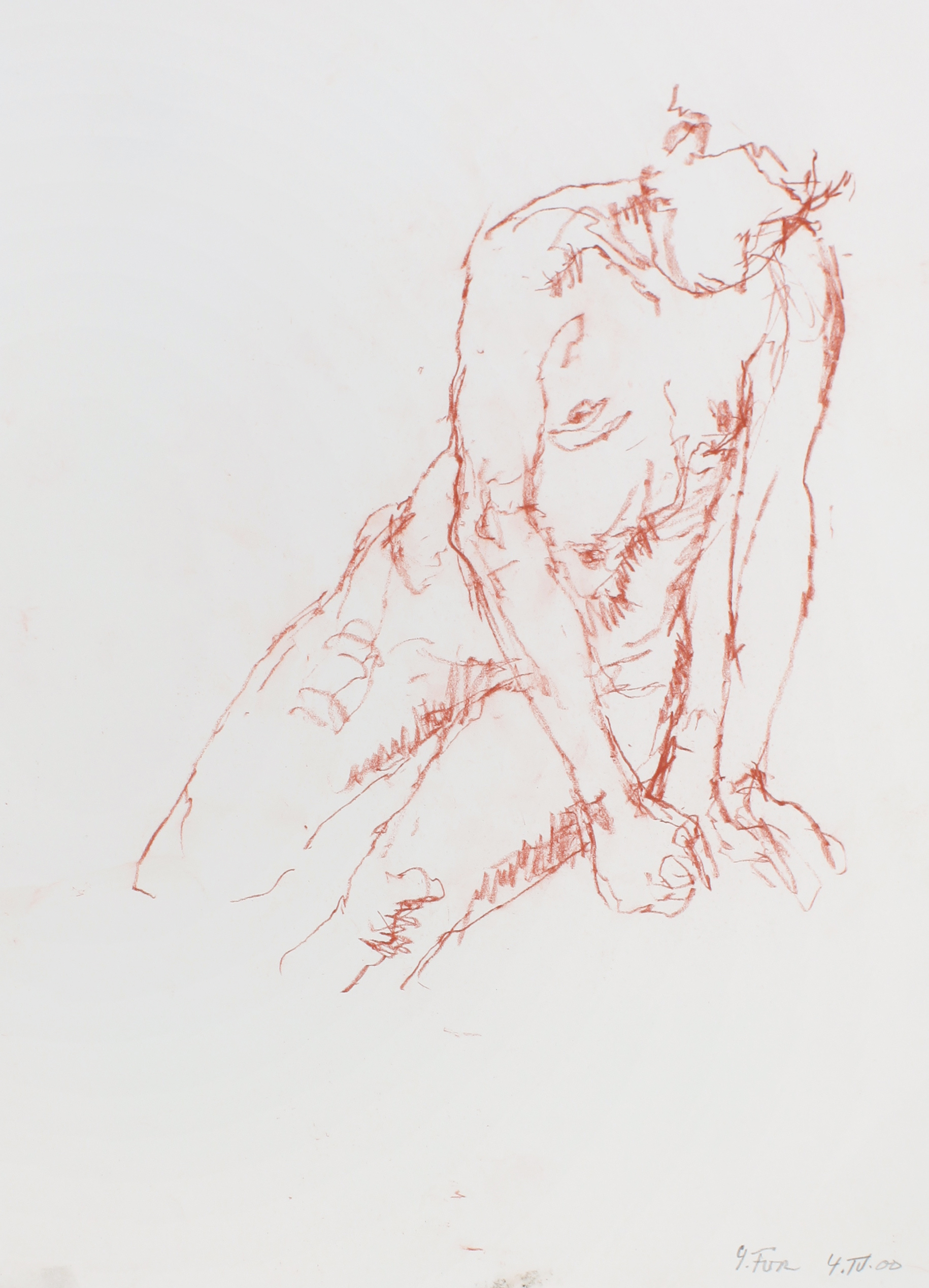 Seated Nude Leaning to the Right