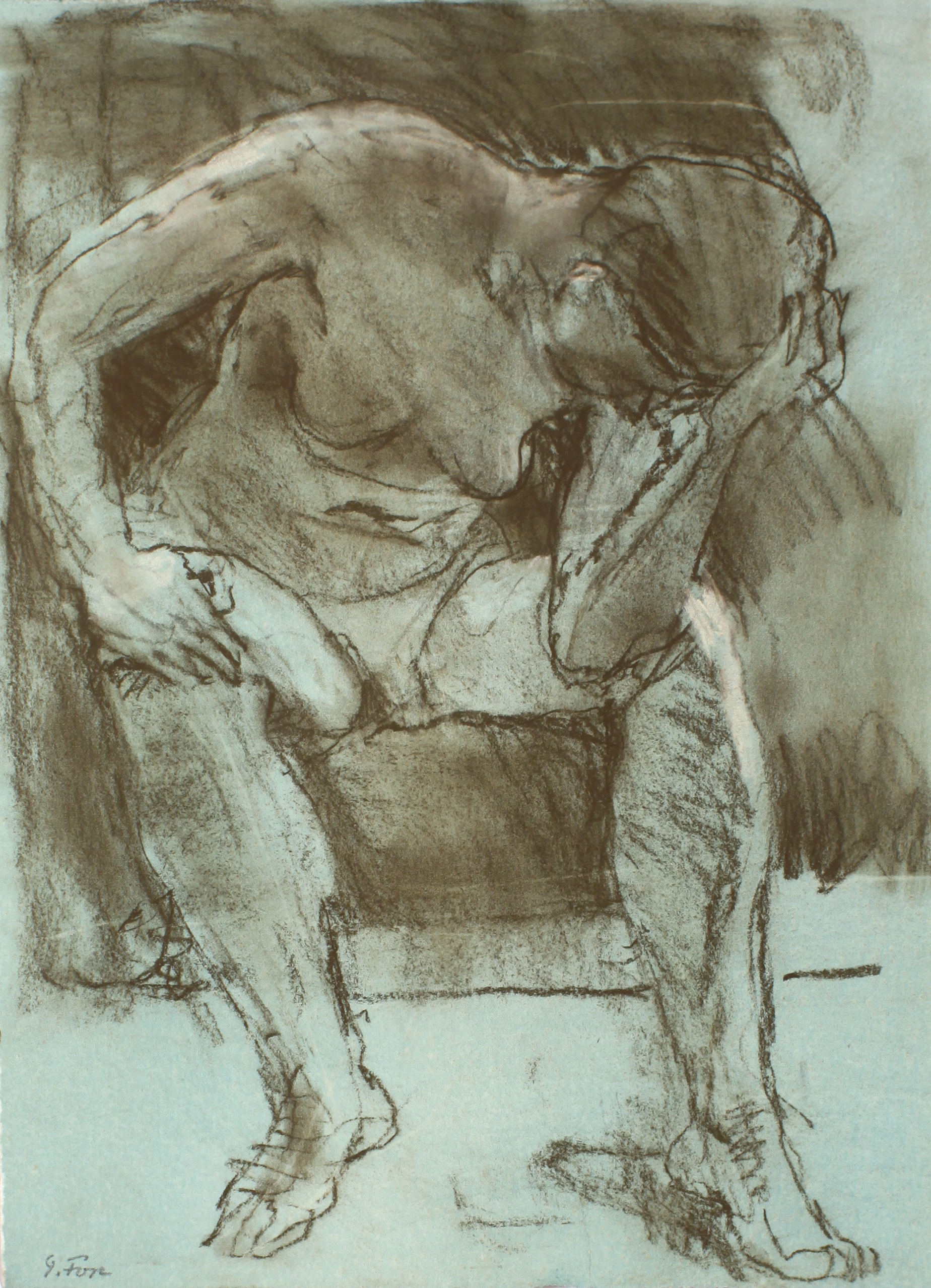 Figure with Head in Hand