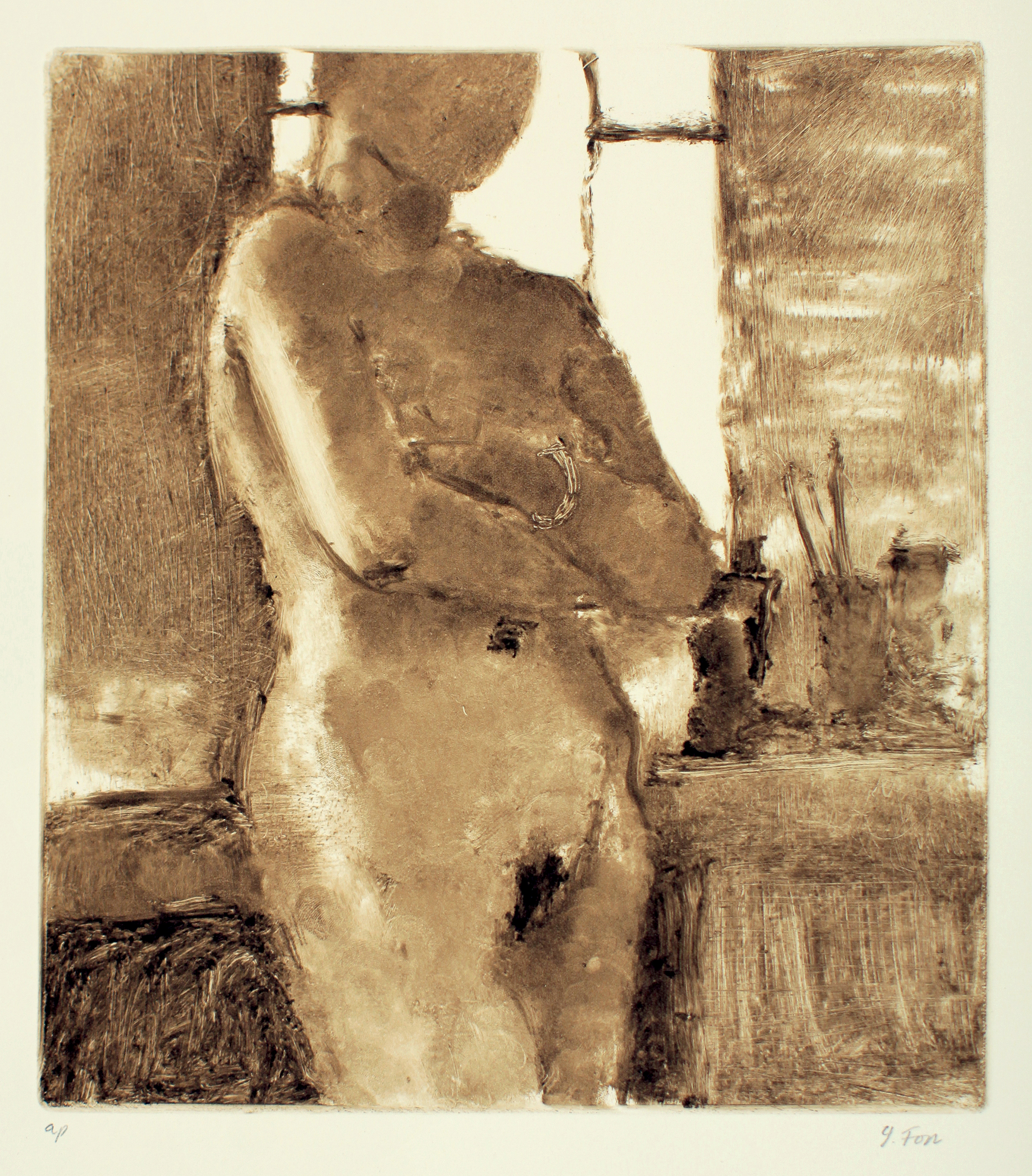 Nude Against the Window