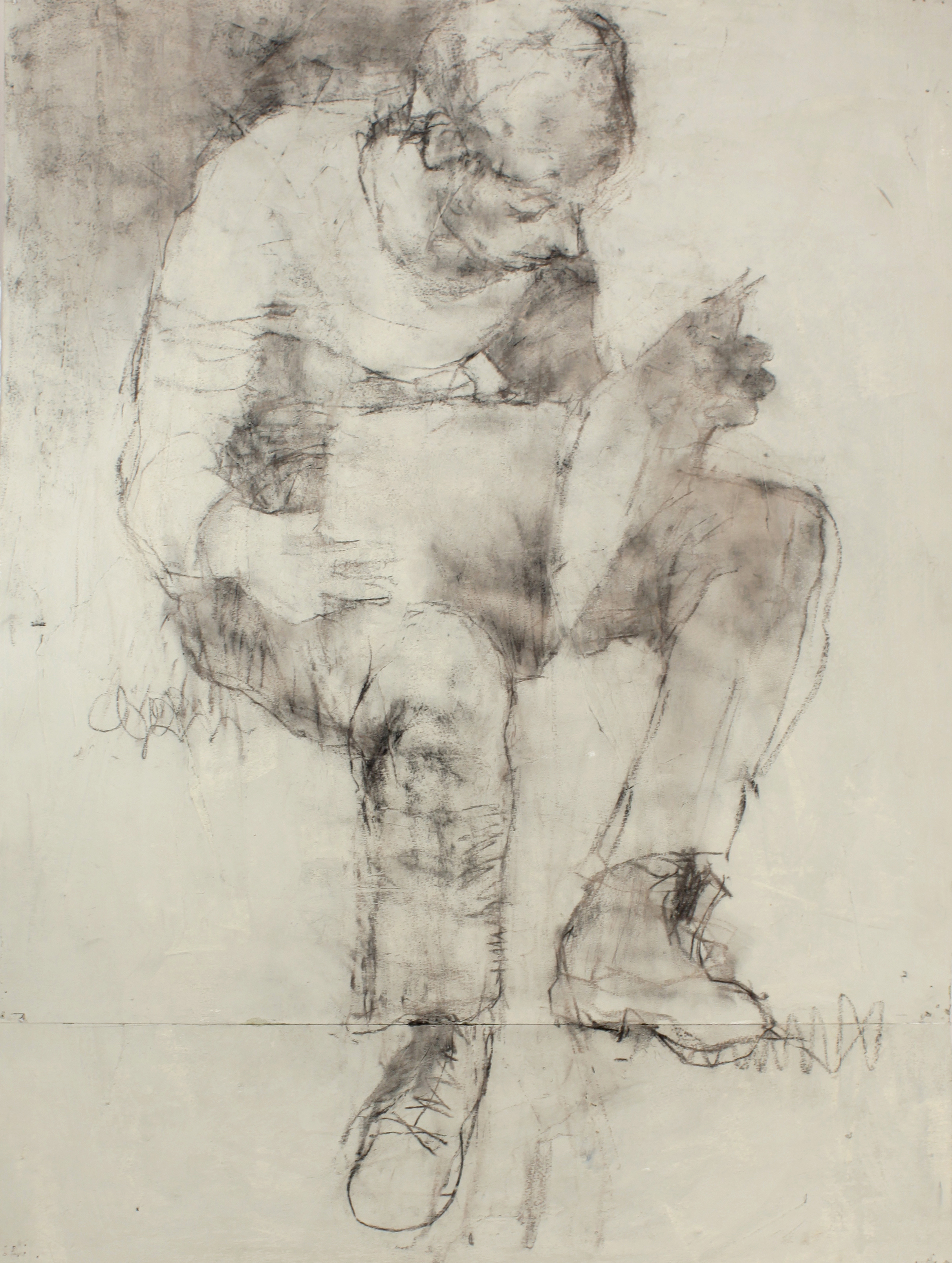Seated Boy Reading