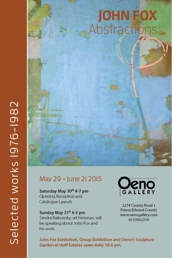 2015, Oeno Gallery, Prince Edward County, ON.