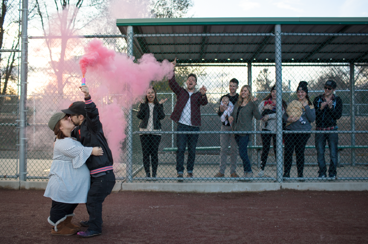 Gender reveal with our closest friends.