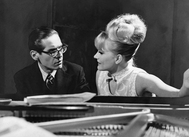 Jazz Pianist, Bill Evans and Swedish Singer, Monica Zetterlund in 1964