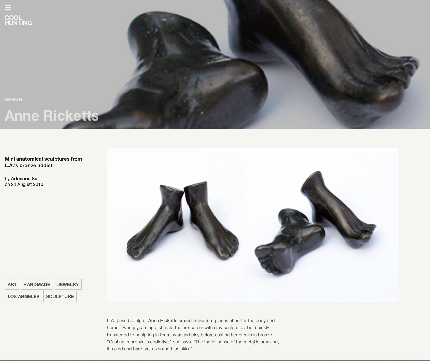 Miniature Sculptures – Bronze Foot Sculpture