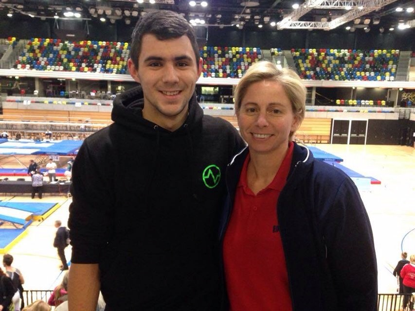 James Langley with his DMT coach - 3 time world champion Kylie Walker.