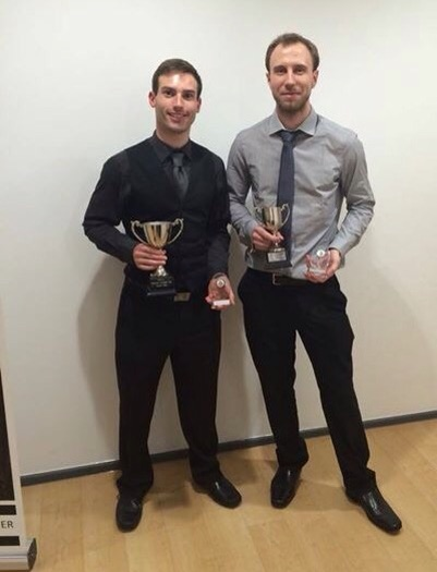 Lewis Jones (Male Sports Performer of the Year) & Chris Bennett (Coach of the Year)