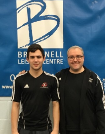 Successful candidate James Langley with his assessor Matthew Hart