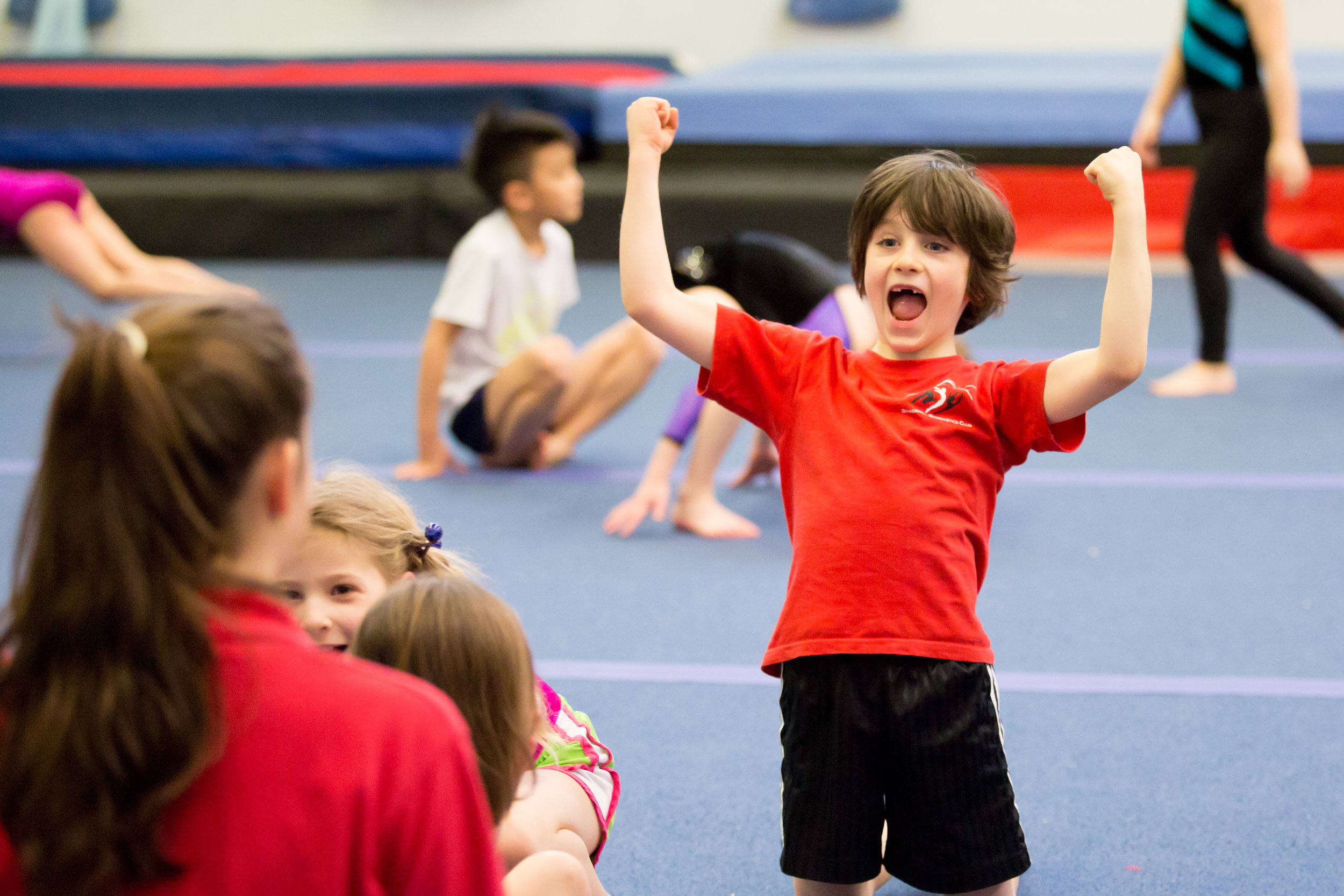 Foundation Gymnastics - Foundation Gymnastics classes are based around basic motor skill development and exploration of gymnastics movement. The classes operate on the Bracknell Gymnastics Club badge scheme covering Badges 1-5.