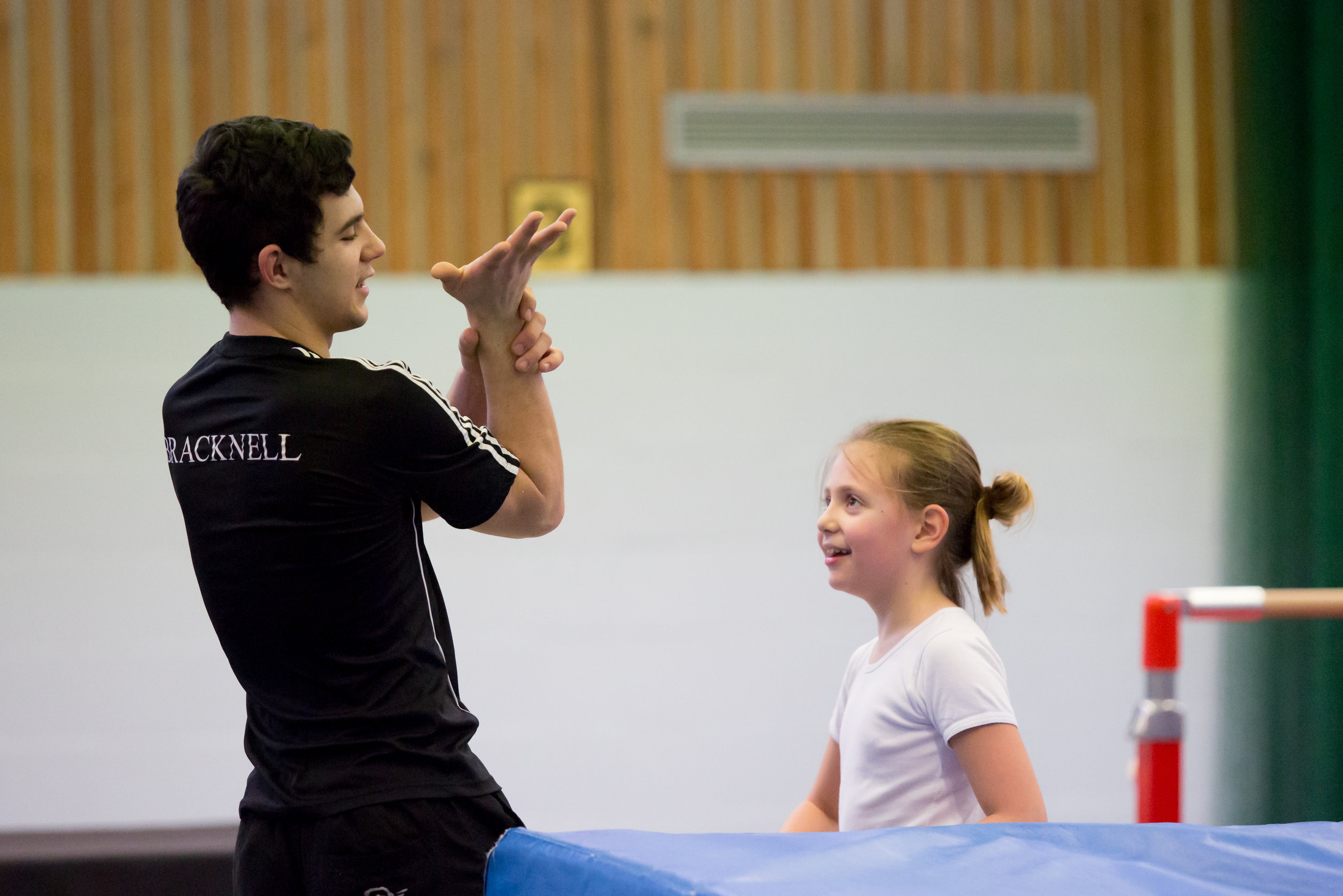Intermediate Gymnastics - Intermediate Gymnastics classes are for those with basic gymnastic experience ready to start exploring more complex skills. The classes operate on the Bracknell Gymnastics Club badge scheme covering badge 6-8.