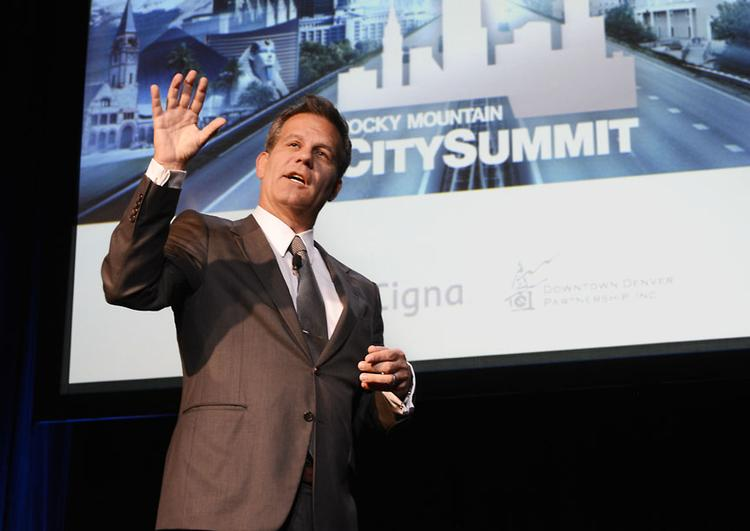 * Bestselling author Richard Florida  spoke at Downtown Denver Partnership's Rocky Mountain City Summit in 2014.  Image courtesy of Larry Laszlo and Denver Downtown Partnership