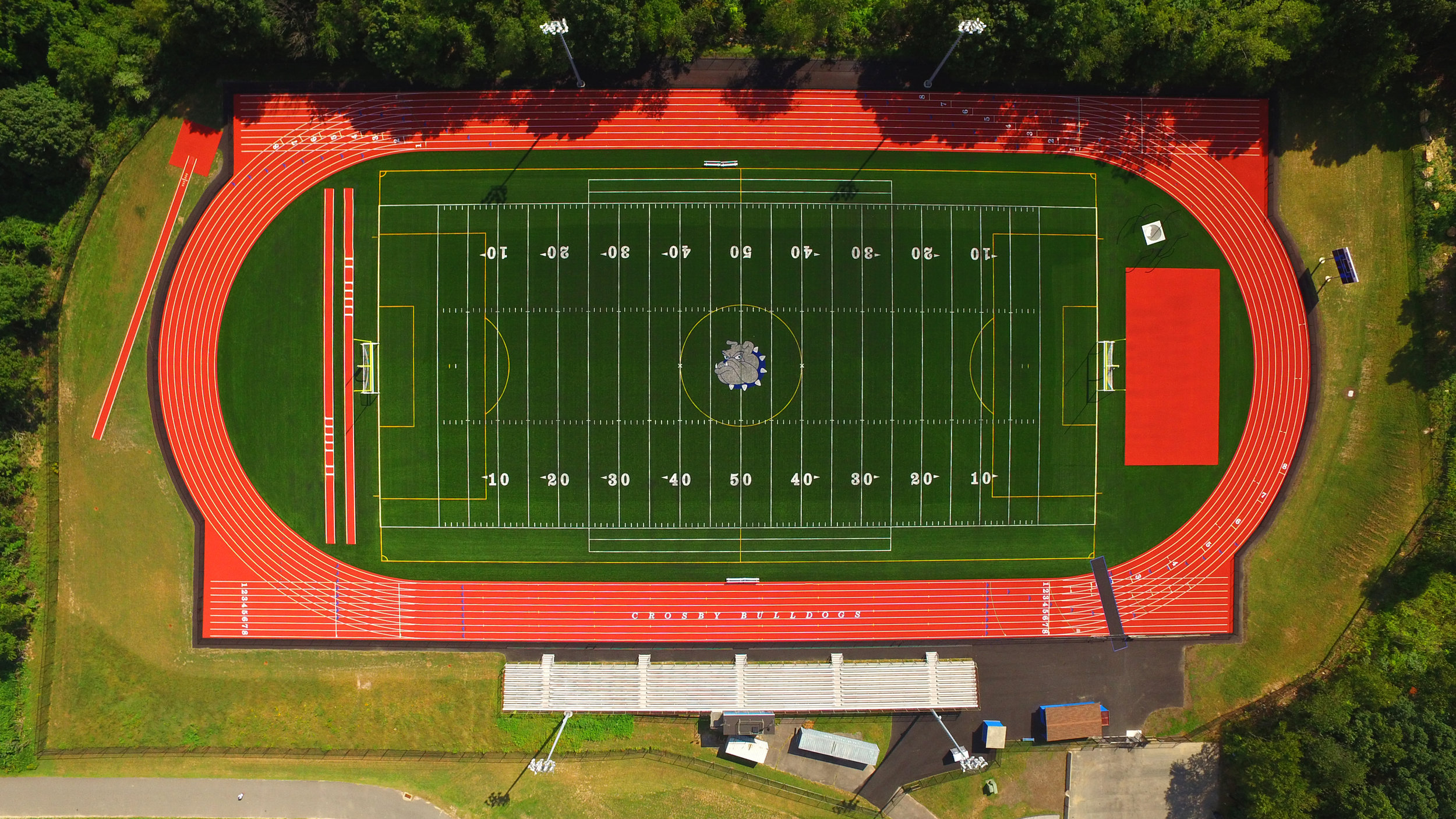 Drone Photo: Crosby High School Multi-Purpose Athletic Field & Running Track