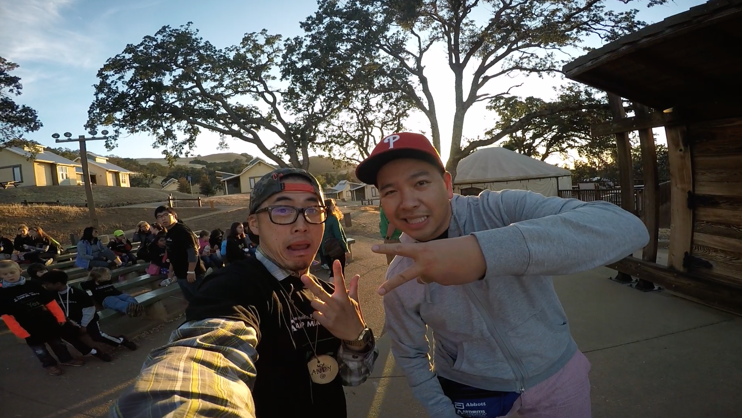 Camp Director, Quoc Du and I. We're actually childhood friends.