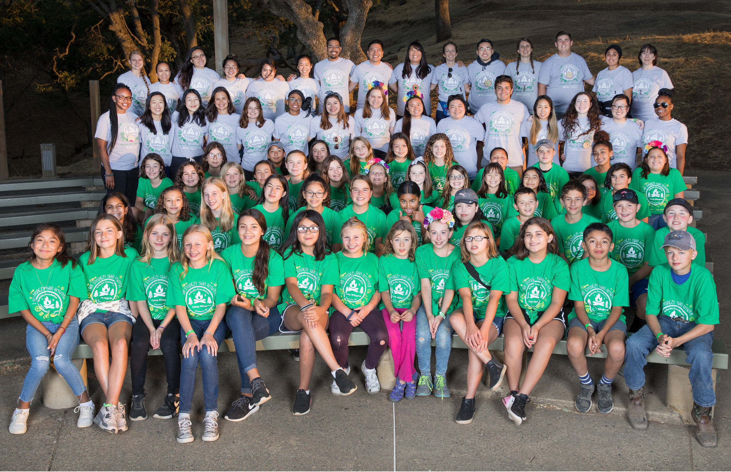 Juvenile Arthritis Camp 2019 Campers and Volunteers