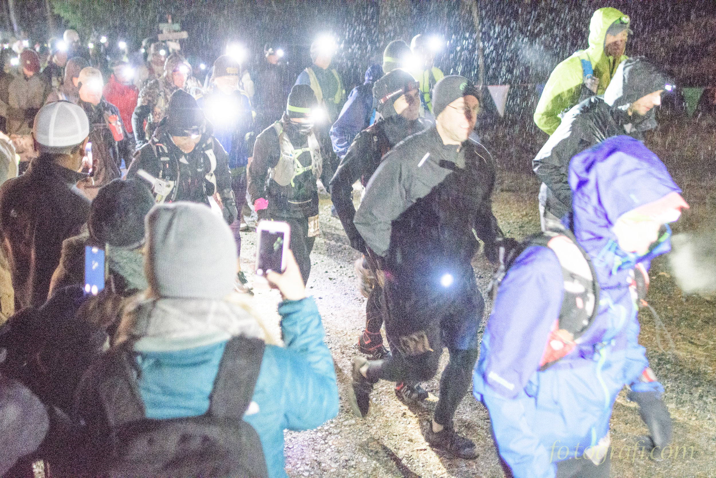 6:05 a.m. -- it was cold and wet and dark. Practically everything you don't want as you begin a 24-hour race.