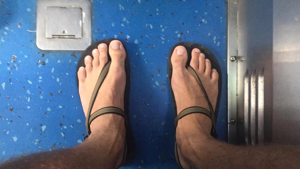 My trusty Earth Runners on a DC bus.