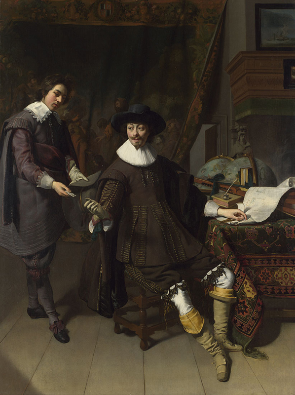 Portrait of Constantijn Huygens and his (?) Clerk  1627, Thomas de Keyser
