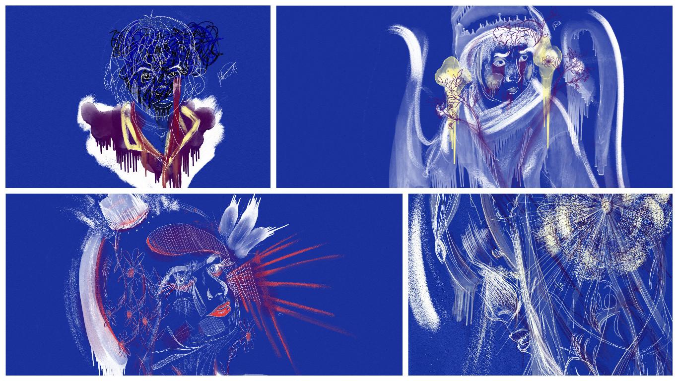 Blue Series College Saatchi Art