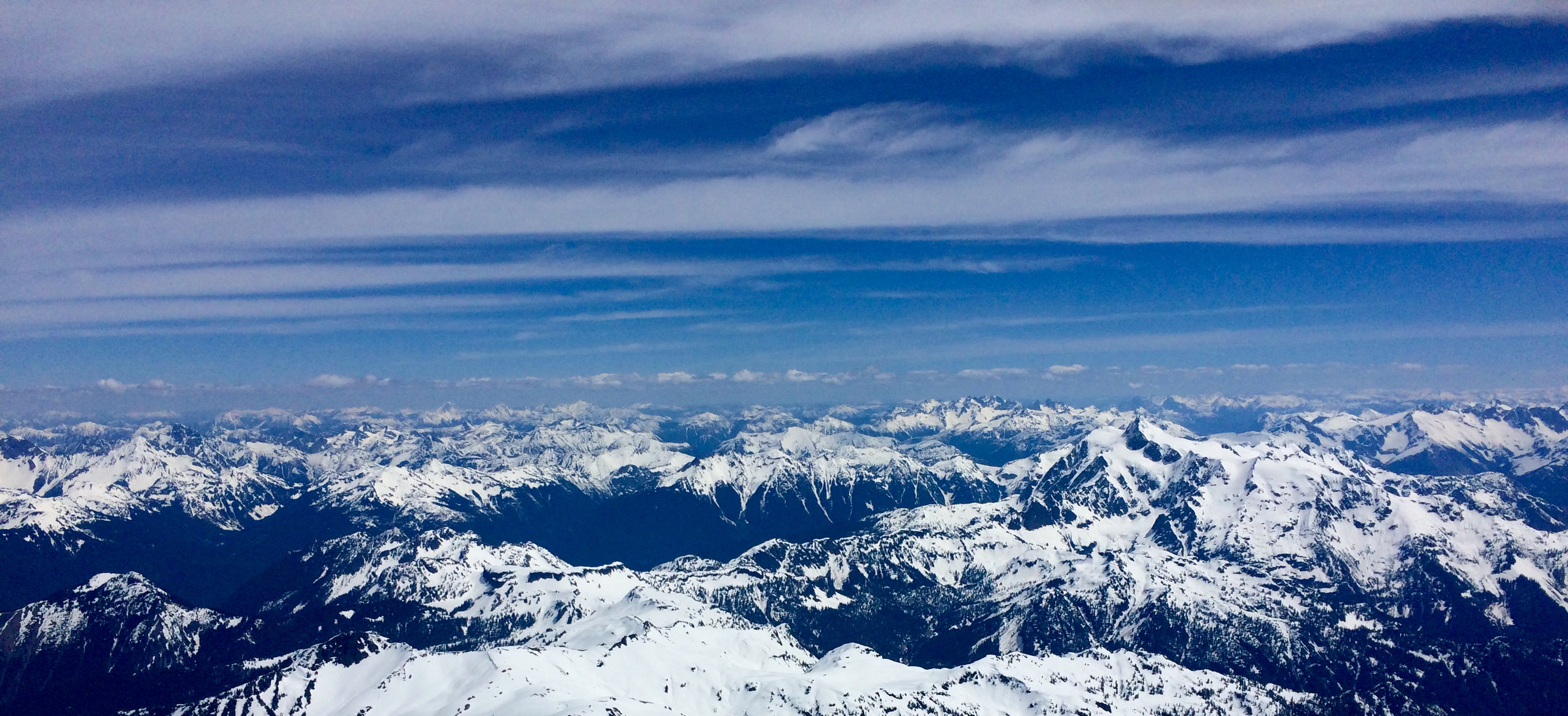 Another view from the peak - it really shows you how much higher Mt. Baker is than the surrounding mountains.