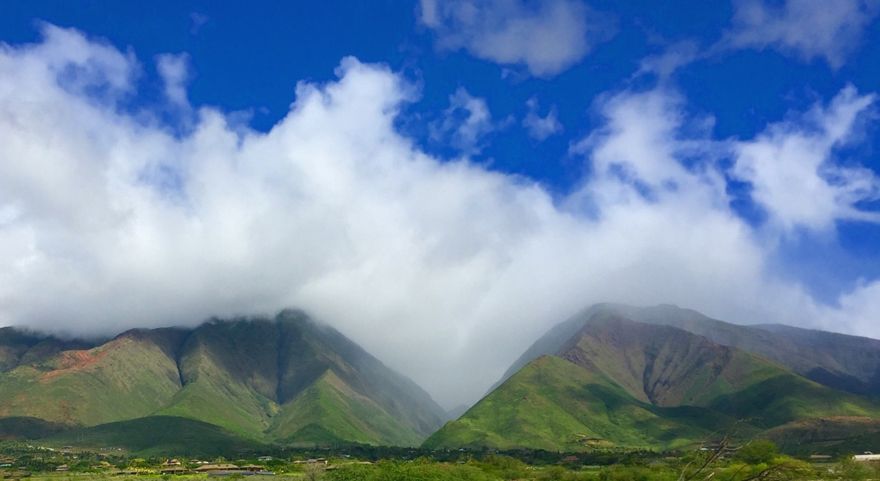 The West Maui Mountains - on the road to Lahaina.