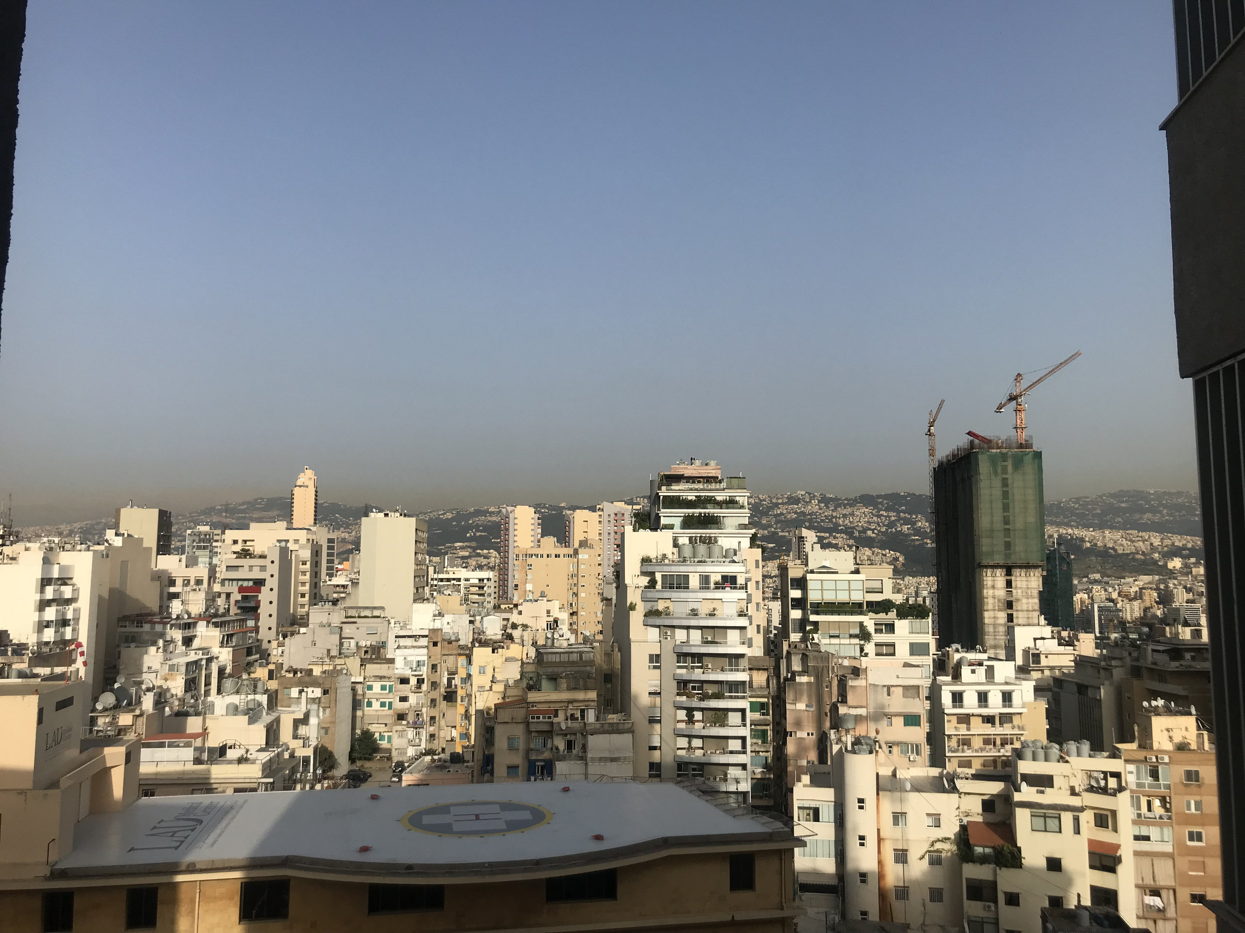 View from my friend's apartment in Beirut