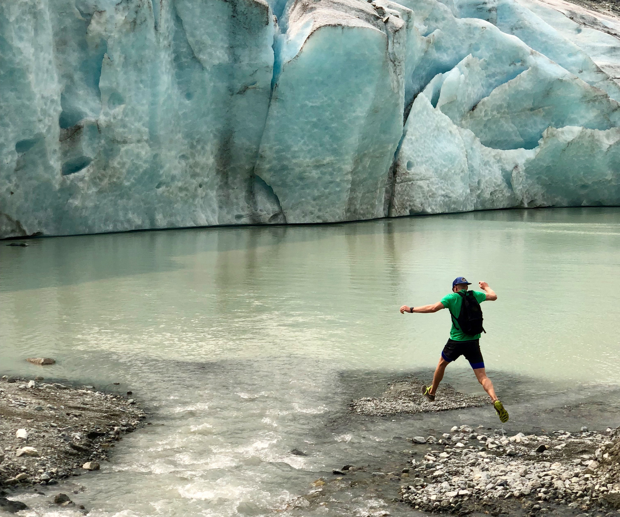 We hiked all the way to the glacier - maybe one of the last times to be up close to one with the way the world is going.