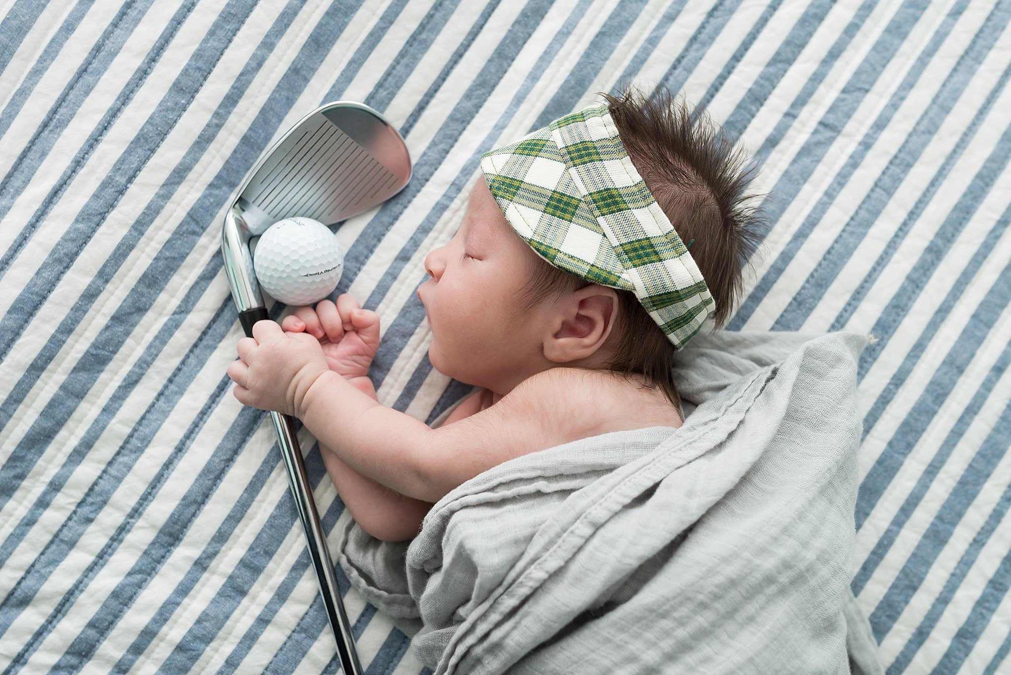 He's already dreaming of his first hole in one!
