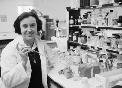 Rosalyn Sussman Yalow in 1977, the year she won a Nobel prize.