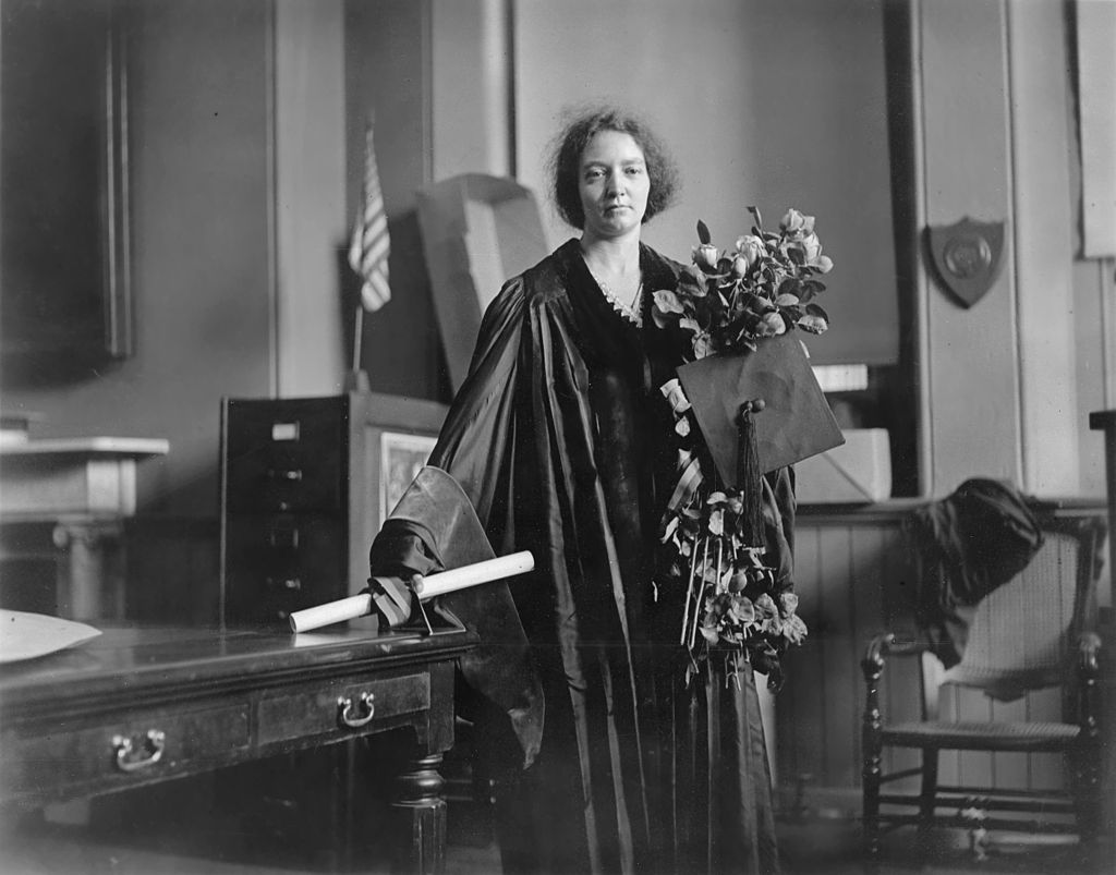 Irène Joliot-Curie after presenting her PhD dissertation on May 23, 1921 ( Acc. 90-105 - Science Service, Records, 1920s-1970s, Smithsonian Institution Archives )