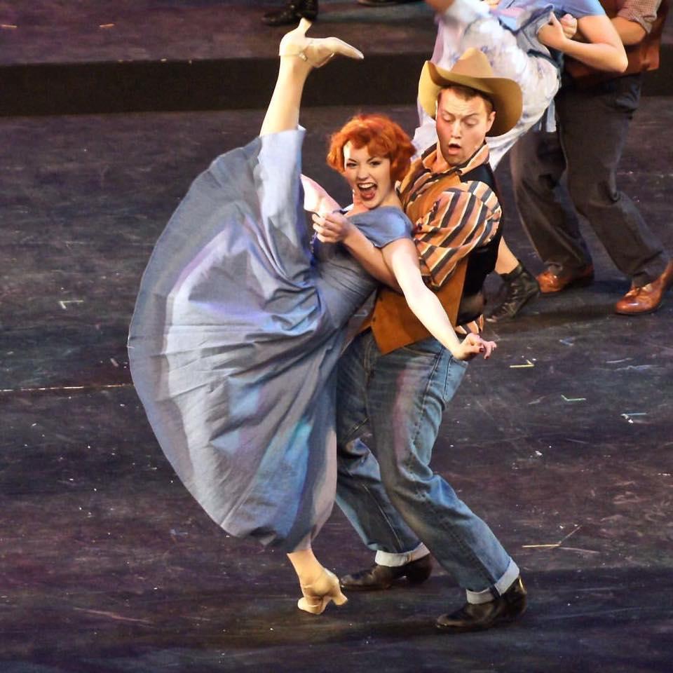 "Mackenzie Newberry and Harrison Smith kickin' it up in ""Big D"" (Photo: Marika Contouris)"