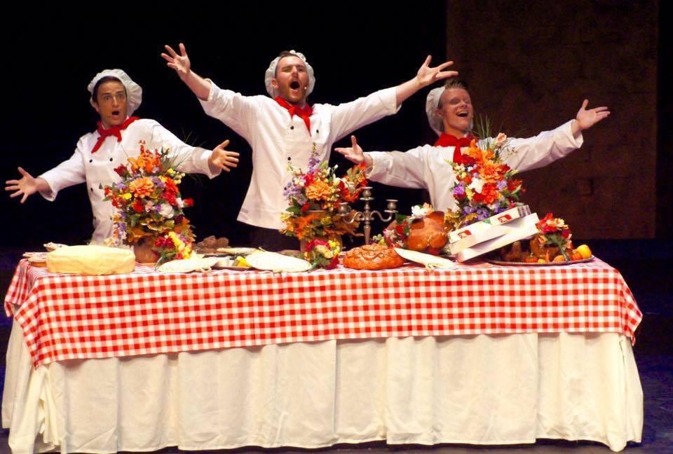 "Marc Pavan, Bobby Gallagher, and Kenneth Lautz in ""Abbondanza""  (Photo: Marika Countouris)"