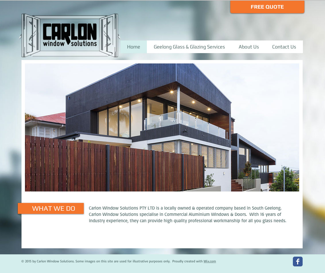 Carlon Window Solutions Website