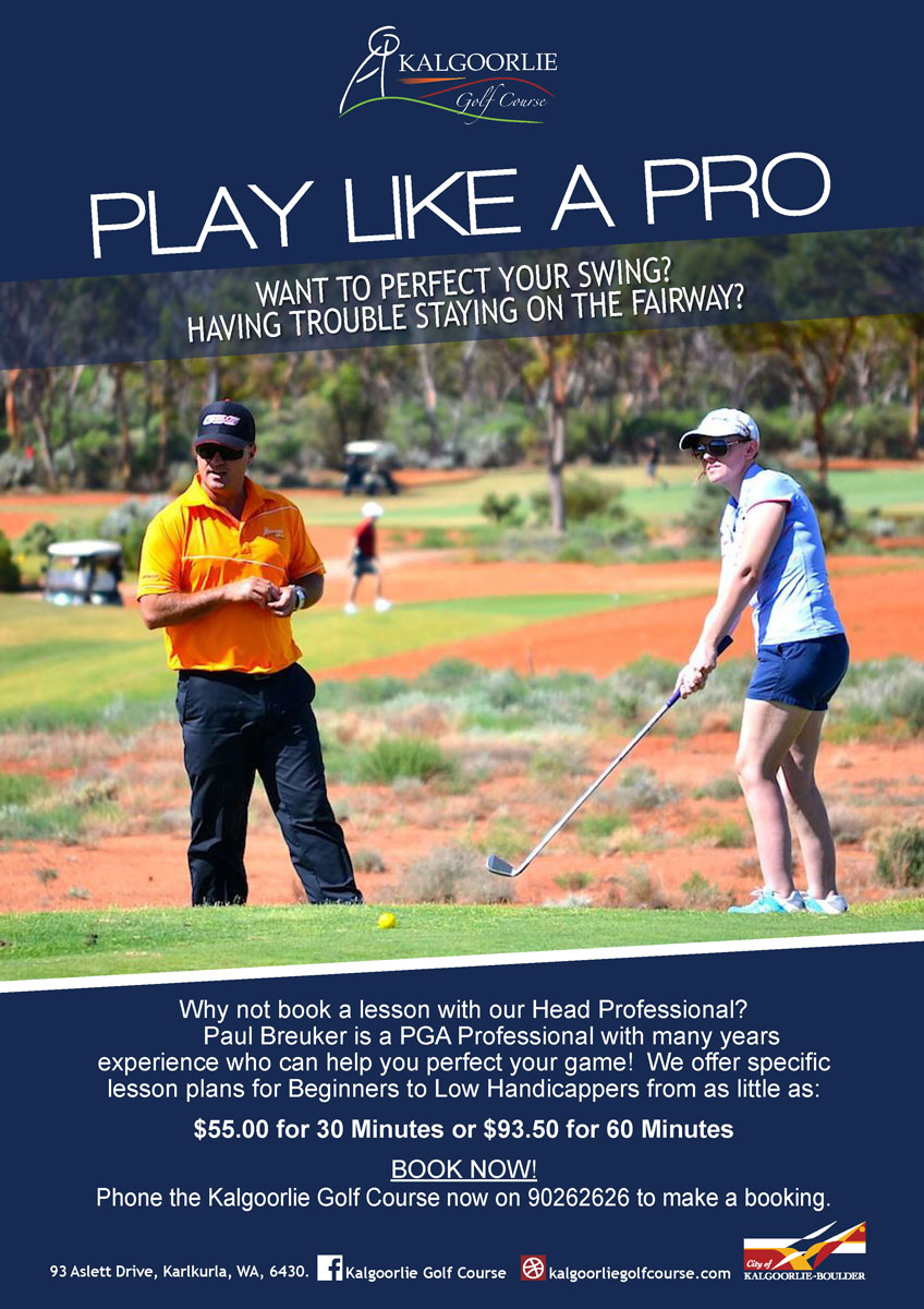 Kalgoorlie Golf Course Services Flyer