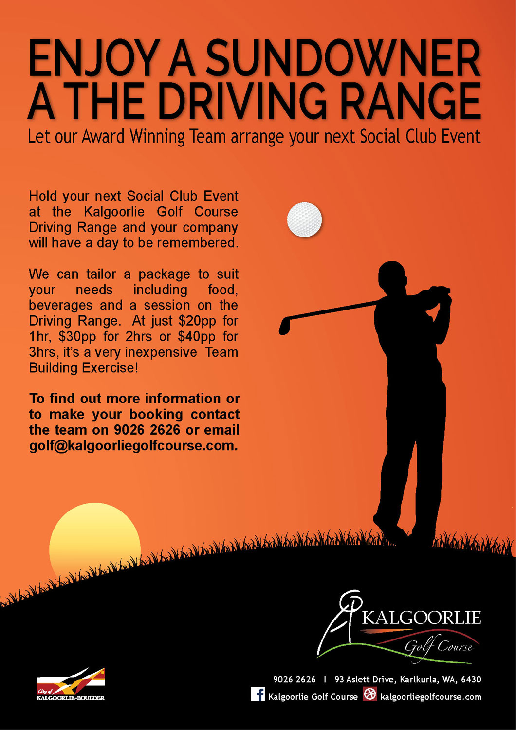 Kalgoorlie Golf Course Event Poster