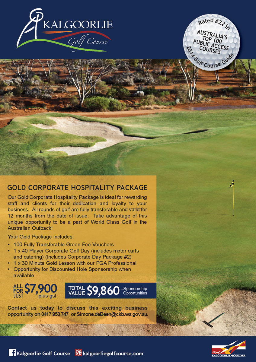 Kalgoorlie Golf Course Sponsorship Package