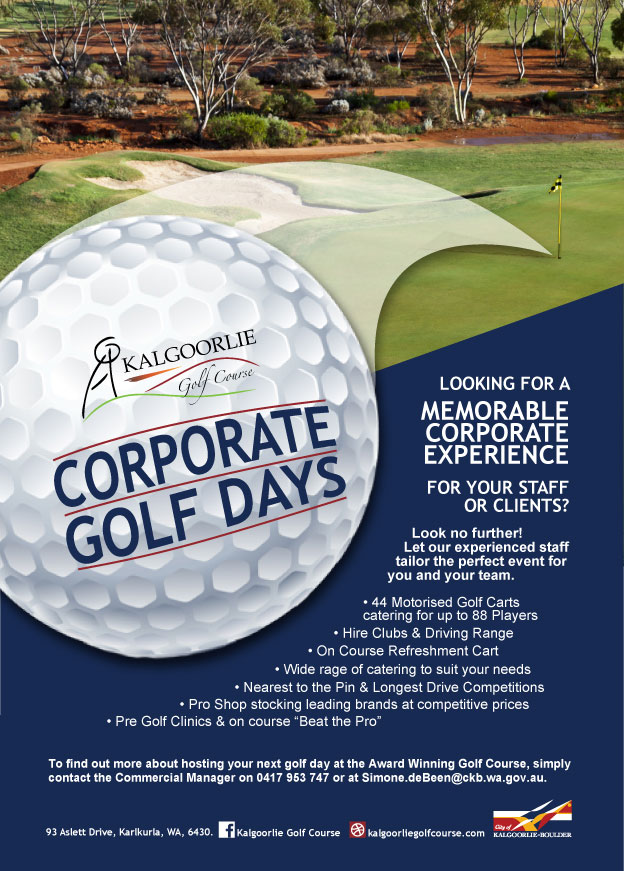 Kalgoorlie Golf Course Corporate Golf Days