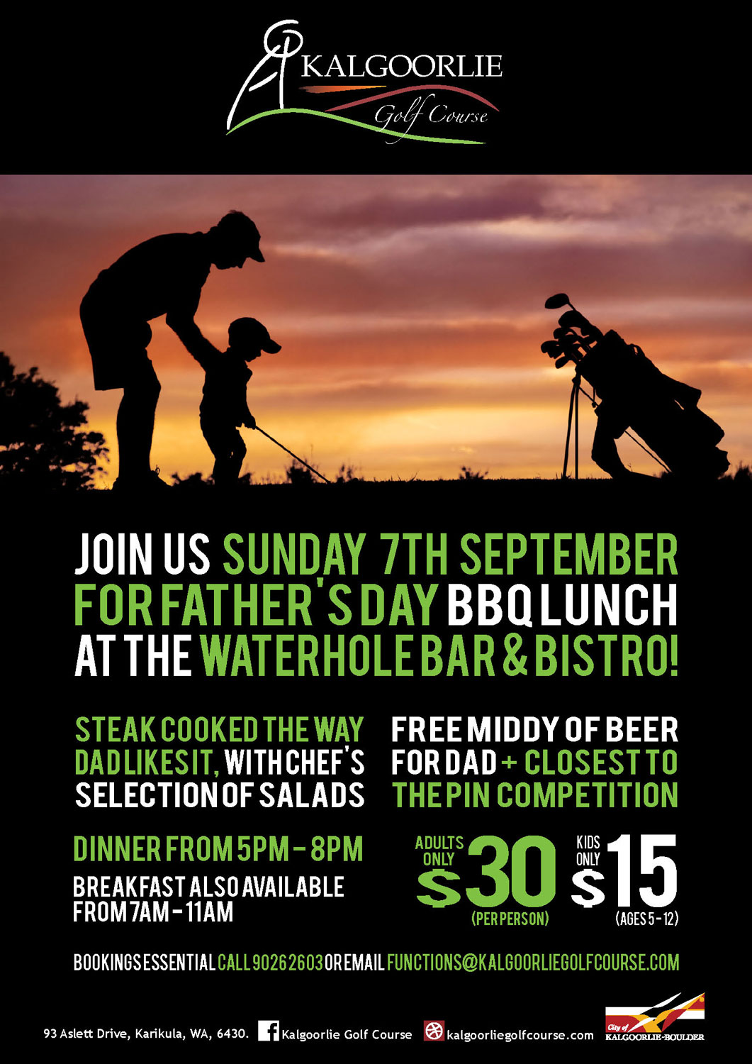Kalgoorlie Golf Course Father's Day Poster