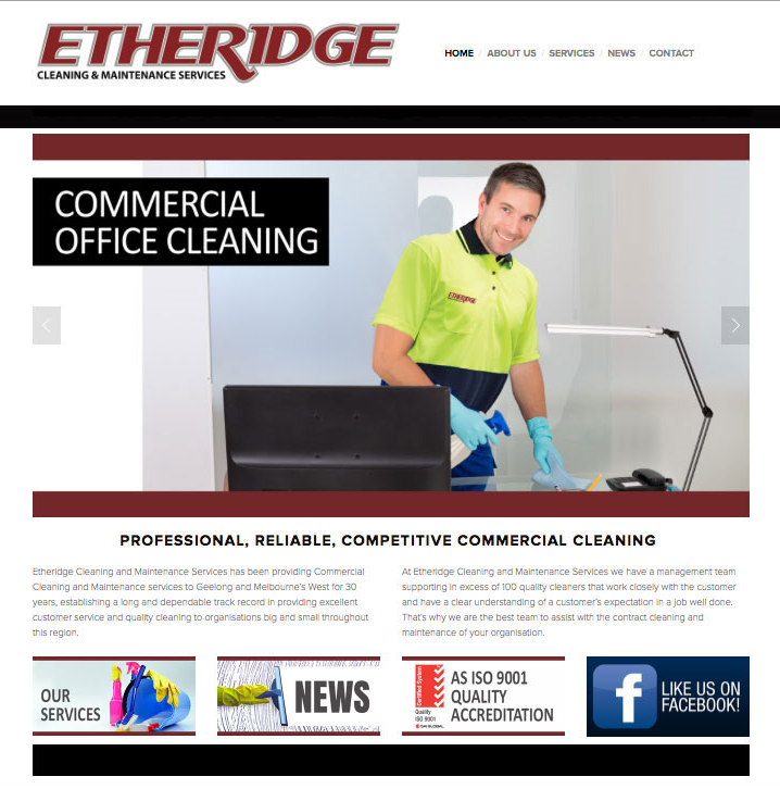 Etheridge Cleaning Services had a website that was tired and old and did not rank in the Search Engines anywhere!  We built them a user friendly, CMS based website that a couple of days after launch, ranked on Page 1 & 2 for their industry.