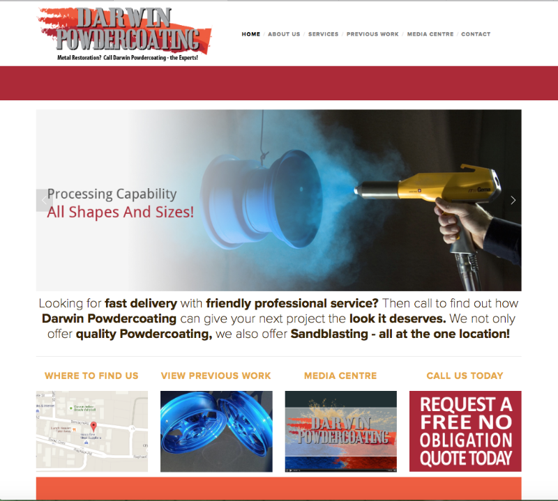 Darwin Powdercoating Website