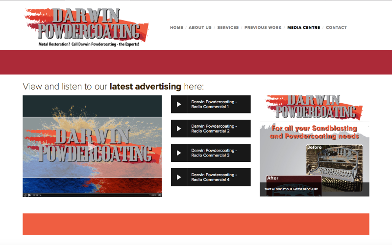 Darwin Powdercoating Website 2
