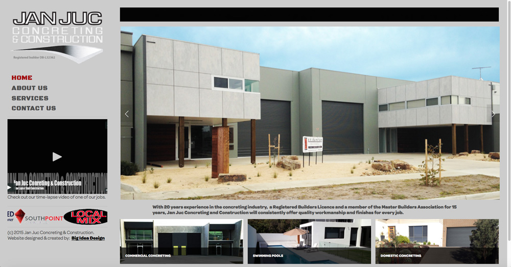 Jan Juc Concreting & Construction Website