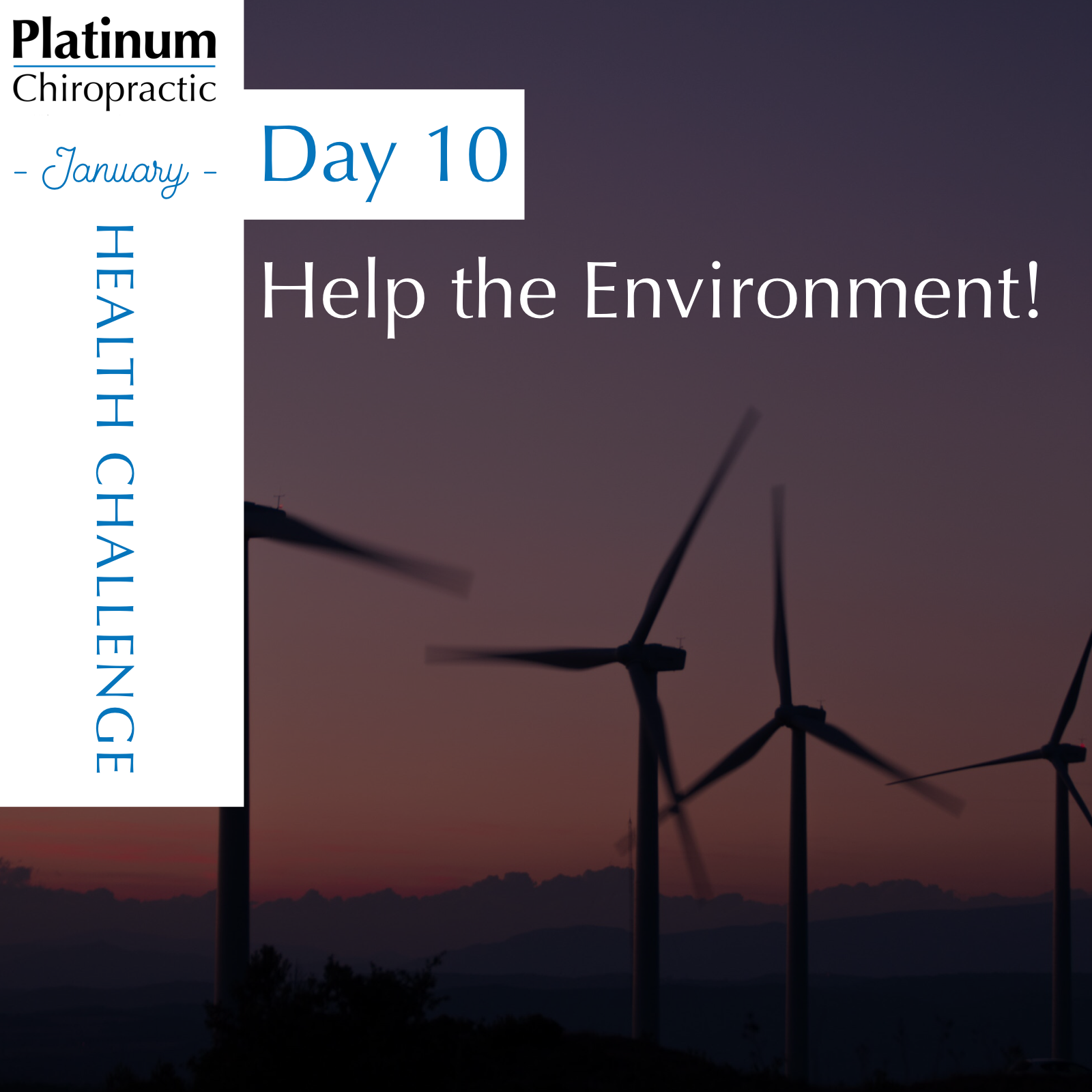 Share with us how you are helping the environment today.