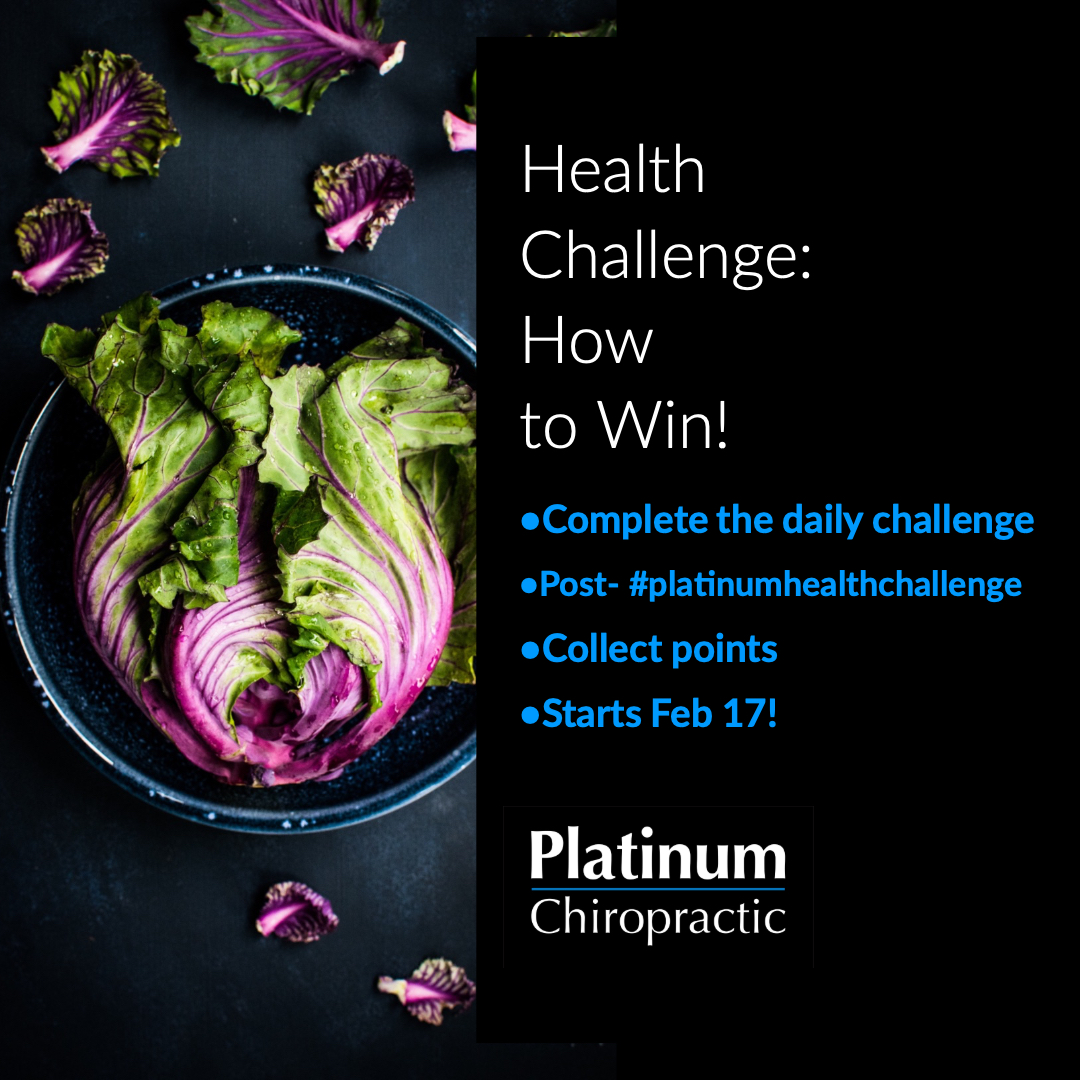 Our annual Platinum Health Challenge starts tomorrow, Sunday Feb 17th. Don't miss our on your chance to win raffle prizes and practice some healthy habits while you are at it!