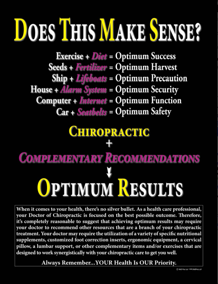 When it comes to your health, there's no silver bullet. As a healthcare professional, our Doctors of Chiropractic are focused on the best possible outcome. Once your structure is being addressed, the massage and physical therapy may work synergistically with your chiropractic care to achieve optimum results.