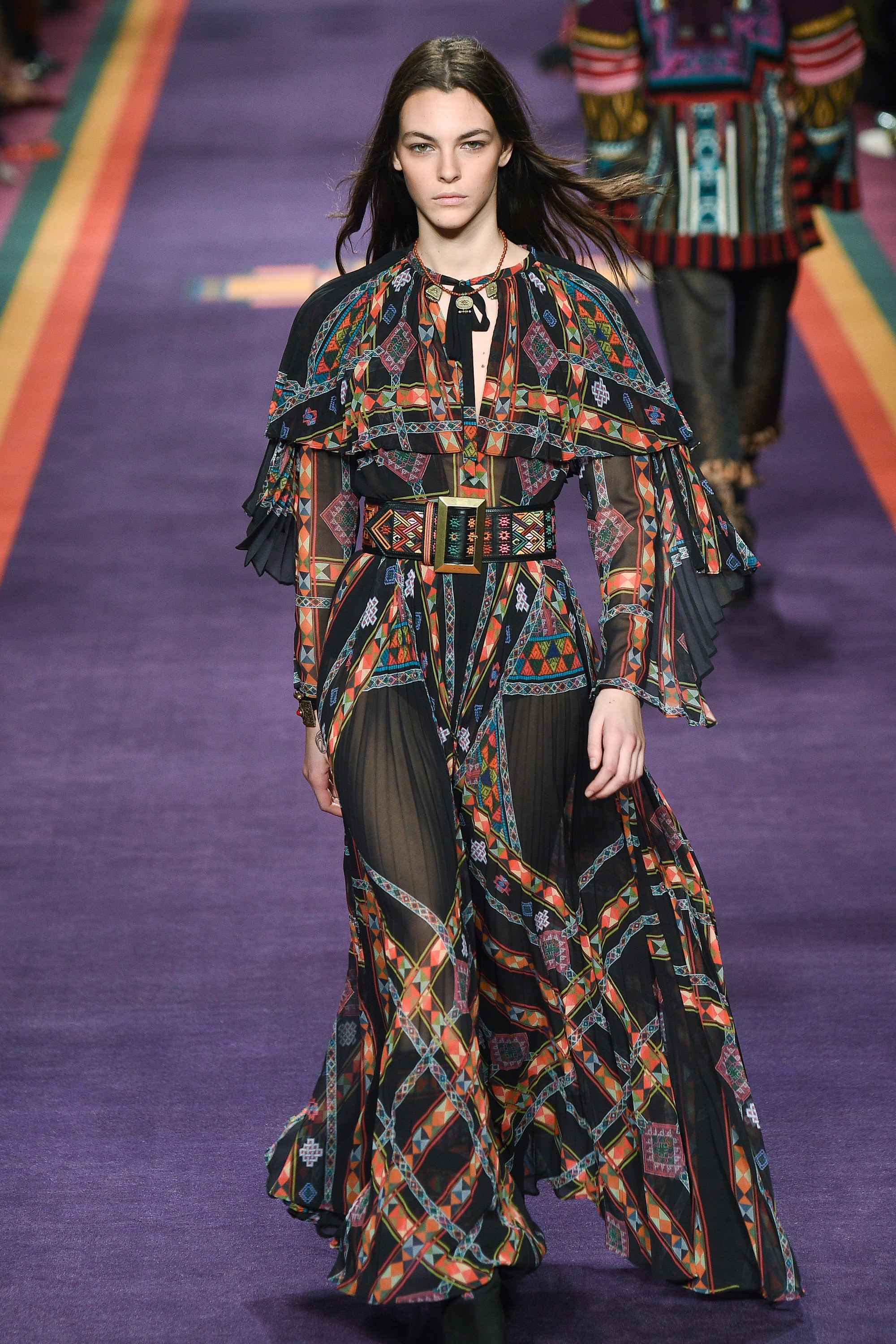 ETRO  - while black is not our pick for a bride, the tapestry-ribbon detail is the beautiful point of interest this boho dress