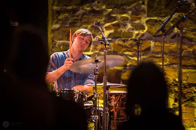 Had a really amazing time performing up in the Northeast with @leylacello  This shot was taken by @lukeawtryphotography at the @discoverjazzfestival in Burlington, Vermont.  Enroute to hide out in the Teton's with my family for some weeks and work on music away from the performing. = = = = = = = =  #drums #drummer #festival #summer #burlington #tour #band #bam #creole #folk #music #show #zone #happy #place #sound #listen #create #share #project #other #place #dance #rhythm #singer #songwriter